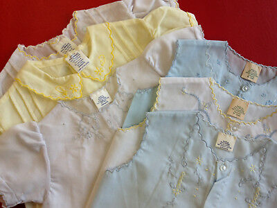 Mixed lot: Vintage baby doll dresses + vests w/ embroidery + pin-tucking