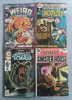 Small Horror Comic Lot [Mixed Publishers] Weird Wonder Tales, Ghost Tales