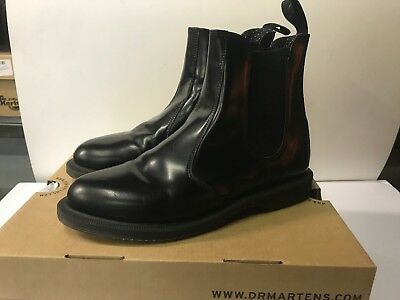 4c25cdc11b2 DR. MARTENS NEW Women's 9 Flora Chelsea Boot Black Polished Smooth Doc