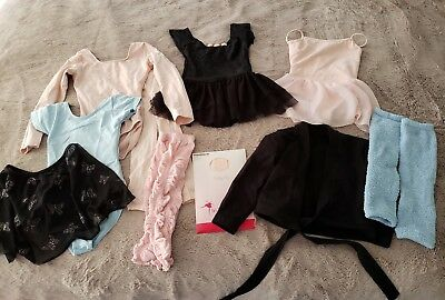 Huge Ballet LOT youth girls 4 - 5 leotard tights leg warmers