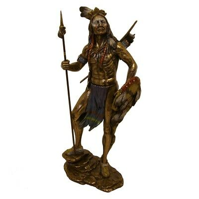 Bronze Native American Indian Sioux Cold Cast Bronze Figurine.suburb.