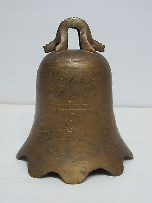 Fine Old or Antique Chinese Bronze Temple Bell with Mark