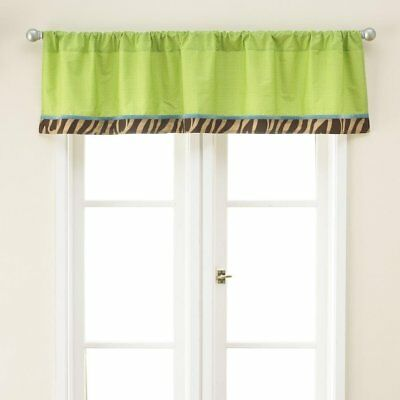 Window Valance in Zoo Zoo Print by Too Good Jenny McCarthy