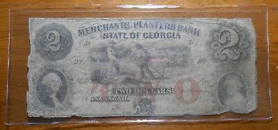 $2  Bill Merchants Planters Bank State Of Georgia  Obsolete Currency (32)