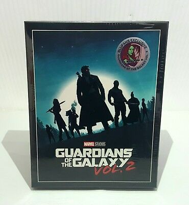 GUARDIANS OF THE GALAXY VOL 2 [2D + 3D] Blu-ray STEELBOOK [BLUFANS] FULLSLIP OOP