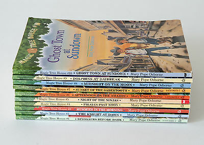 Set of 10 (#1-10) MAGIC TREE HOUSE Series Lot of Chapter Books for Ages 7-10