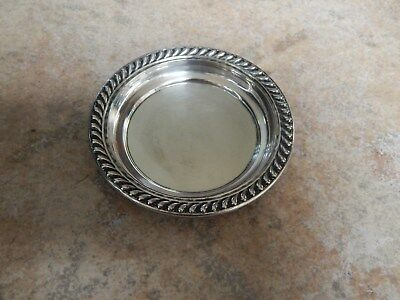 Vtg Elegant  Sterling Silver Small Round  Tray, Plate #1