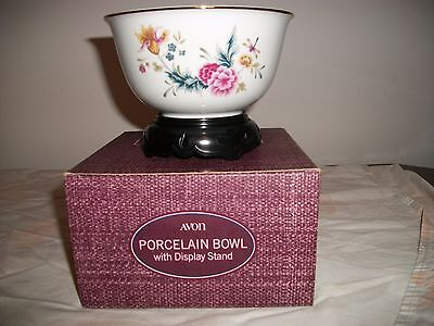 Avon American Heirloom Collection Porcelain Round Bowl With Display Stand