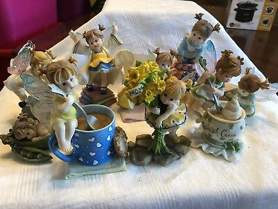 My Little Kitchen Fairies Lot Of 9 With Damage