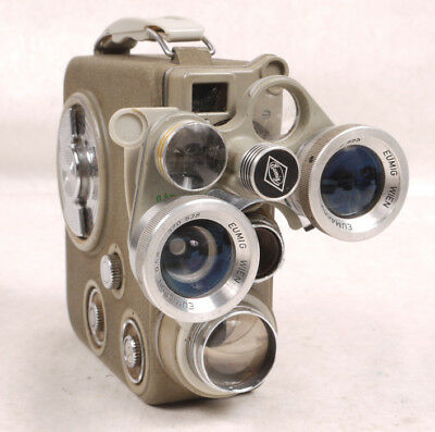 Eumig C3R 8mm Movie Camera w/Three Lens Turret - Nice - NoReserve