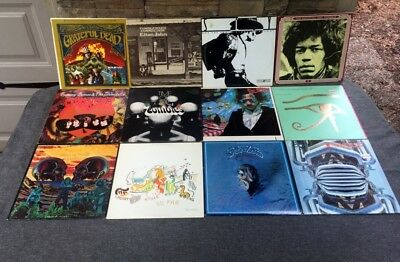 Lot of 12 LPs Albums Records Vinyl HENDRIX SLY GRATEFUL DEAD EAGLES STEPPENWOLF