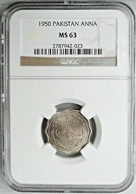 Pakistan 1950 1 Anna Ngc Ms-63