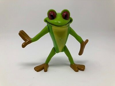 Green Tree Frog Toy Action Figure Movable arms and Legs head