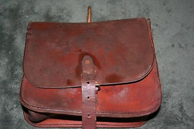 """Vintage Bell Employee Lineman Tool POUCH """" Bell System"""" LEATHER Pouch"""
