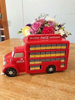 """Coca-Cola Delivery Truck Cookie Jar - Gibson 11 1/2"""" x 6 1/2"""" Tall"""
