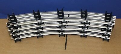 """MTH 11-99093 Lot of 8 sections curved Standard Gauge Track New 42"""" O42 Circle"""