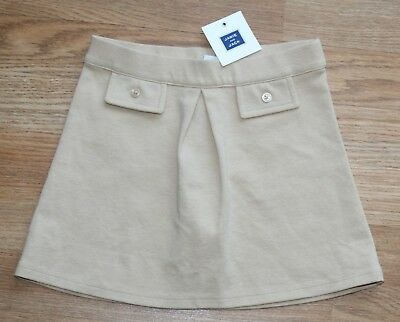 NWT - JANIE AND JACK Girls Ponte Knit Tan Skirt Elastic Pleat Front Size 3