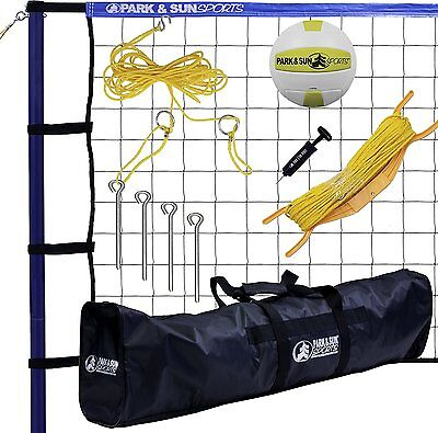 Park & Sun Sports Portable Outdoor Volleyball Net System: Spiker Sport, Blue