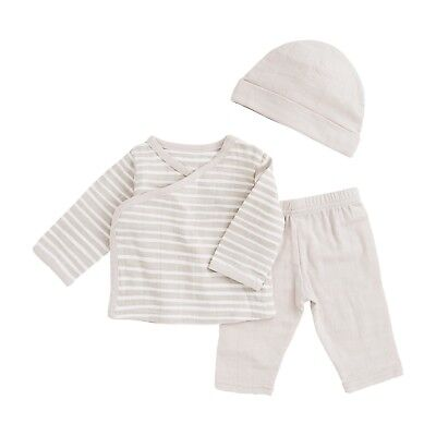 Aden + Anais Newborn Set in Toast Stripe / Baby Clothes Pants Hat & Top