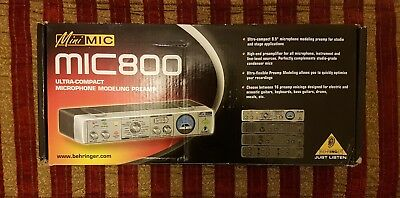 Behringer MINIMIC MIC800 Microphone Pre Amplifier Ultra Compact Modelling Preamp