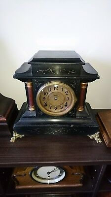 antique clock case e. Ingraham victorian