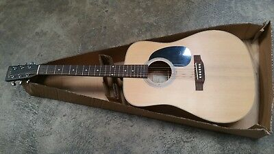 Recording King Acoustic Guitar Dreadnaught (Martin shape Model) Beauitful Finish