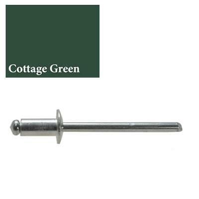 "COTTAGE GREEN / CAULFIELD GREEN Rivet 73 AS 4-3 (dia 1/8"" - 3.2mm) Colourbond"