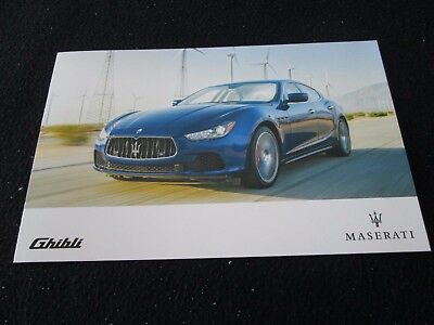 2017 Maserati Ghibli US Brochure Folder Ghibli, S, Q4 Introduction Sales Catalog
