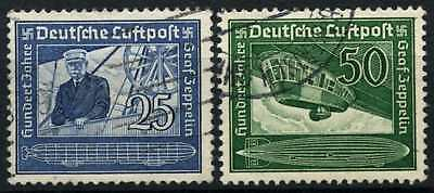 Germany Third Reich 1938 SG#657-8 Air, Count Zeppelin Used Set #D74193