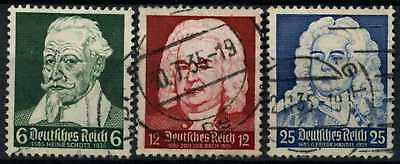Germany Third Reich 1935 SG#580-572 Musicians Used Set #D74112