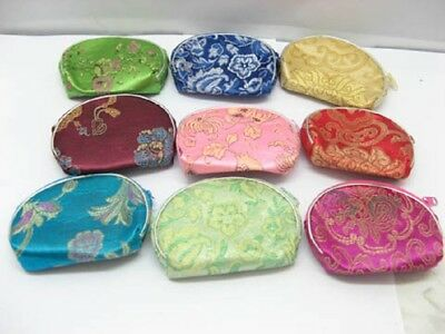60 Floral Silk Purses With zip Mixed Colour