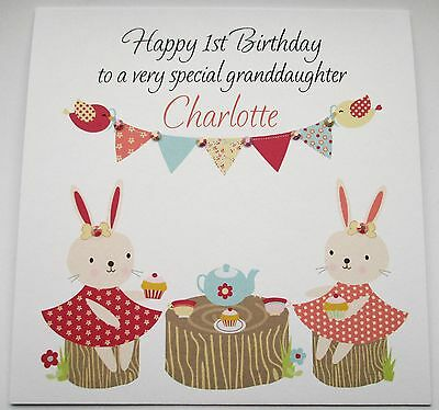 Personalised Granddaughter Daughter Niece Birthday Card 1st 2nd 3rd Any Age