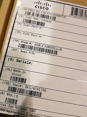 Lot Of 12 - Cisco Air-Cab005Ll-R  5' Low-Loss Cables *new-In-Box *