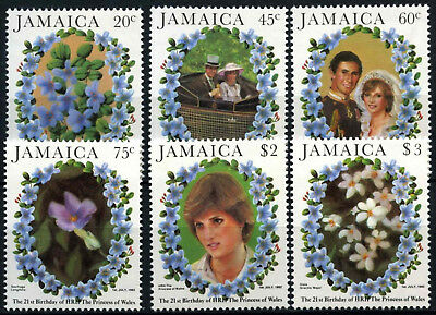 Jamaica 1982 SG#551-6 Princess Of Wales 21st Birthday MNH Set #D53888