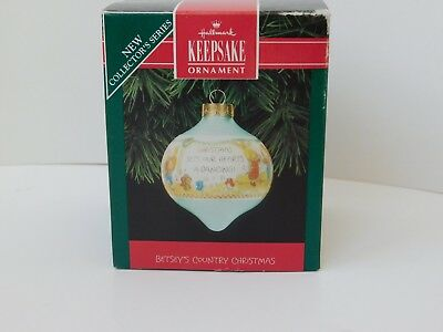Hallmark Betsey's Country Christmas glass ornament ball 1992 1st in series