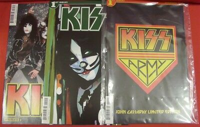 Kiss 1 D 3 C Photo Army Sealed Dynamite Variant Comic Lot Chu Cassaday 2016 Nm