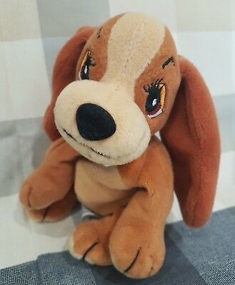 NEW Lady and the tramp soft plush soft toy beanie disney