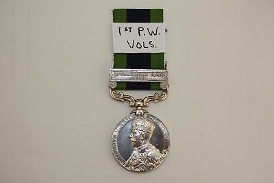 I.G.S.1908-1935 MEDAL CLASP AFGHANISTAN N.W.F. 1919 - 1st PRINCE OF WALES VOLS.