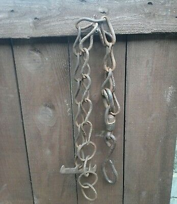 Vintage Cow Chain, Barn Find,ideal For  Gate Fastener Etc,as Pictured