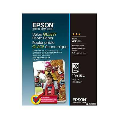 "Original Epson Value 6x4"" (10x15cm) Glossy Photo Paper 183gsm - 100 Sheets"