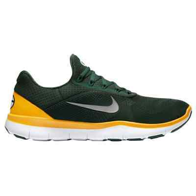 online retailer a35f6 9a8b1 Men s Nike NFL Free Trainer V7 Green Bay Packers Shoes Sneakers New Athletic