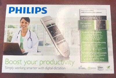 NEW PHILIPS SPEECHMIKE PRO LFH3200 / 00 Dictation