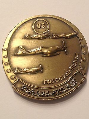 Medaille Commémorative Militaria USA F4u Corsair Fighter