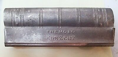 Antique German? Tremolo Harmonica wood interior very old The Matchless Concert