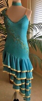 Latin Cha Cha Samba Salsa Rumba Professional Design Competition Dance Dress