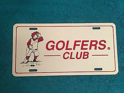 VINTAGE RARE Golf License Plate GOLFERS CLUB LICENCE TAG