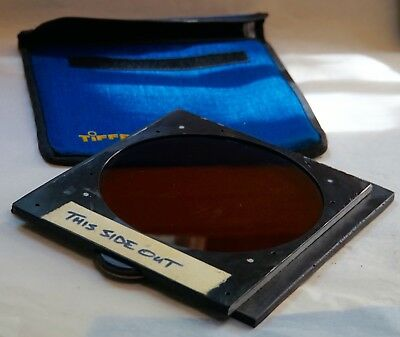 Rare rotating Polarizing filter holder combined with #85 filter.
