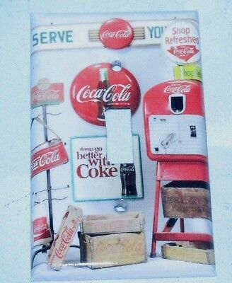 Coca Cola Collectables Signs Image LIGHT SWITCH OR OUTLET COVERS HANDMADE Coke