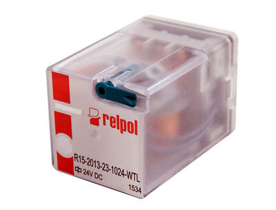 Relpol 3PDT 24VDC 10A Plug-In Non-Latching Relay R15-2013-23-1024-WTL