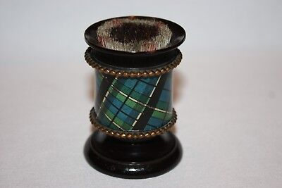 Mauchline Tartan Ware Scottish Pen Wipe Victorian period Scottish Clan Treen